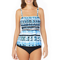 St. John's Bay ® Moroccan Sun Smocked Tankini or Brief Swimsuit Bottom