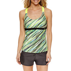 ZeroXposur® Tie Dye Tankini Swimsuit Top or Action Shorts