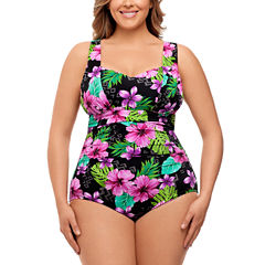 St. John's Bay Greatest Adventure Allover Control Shirred One Piece