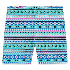 Okie Dokie Print Bike Shorts - Preschool Girls