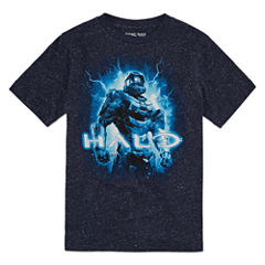 Halo Short Sleeve Crew Neck T-Shirt-Big Kid Boys