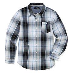 Ocean Current Long Sleeve Button-Front Shirt Boys