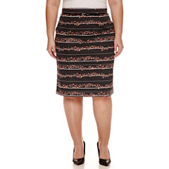Worthington Belted Pencil Skirt Plus