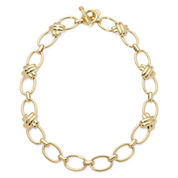 Monet® Gold-Tone Criss-Cross Toggle Necklace