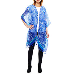 Studio 36 Palm Print Ruana Wrap