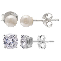Silver Treasures 2-pc. Sterling Silver Earring Sets