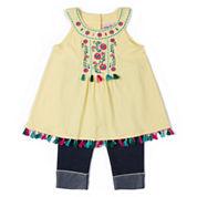 Little Lass 2-pc. Legging Set-Preschool Girls