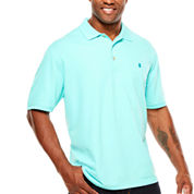 IZOD Short Sleeve Solid Knit Polo Shirt- Big & Tall