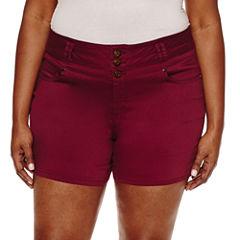 Blue Spice Denim Shorts-Juniors Plus