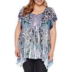 Unity World Wear Short Sleeve Scoop Neck T-Shirt-Womens Plus