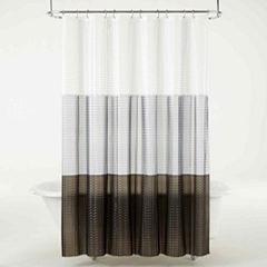 Maytex 3D Colorblock PEVA Shower Curtain