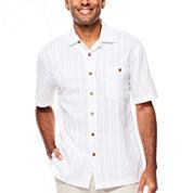Island Shores™ Short-Sleeve Dobby Camp Shirt