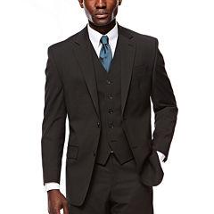 IZOD® Black Striped Suit Jacket