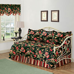 Waverly® Charleston Chirp Noir Reversible Daybed Quilt Set & Accessories