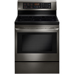LG Black Stainless Steel Series 6.3 cu. ft. Freestanding Electric Oven Range with True Convection and EasyClean®