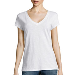 a.n.a® Relaxed Fit Short-Sleeve V-Neck Tee-Tall