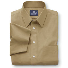 Stafford® Travel Short-Sleeve Easy-Care Broadcloth Shirt–Big & Tall