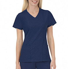 Jockey Womens Solid Illusions™ Embossed Scrub Top