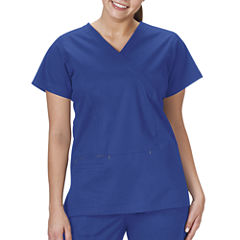 Bio Stretch Womens Mock Wrap Scrub Top