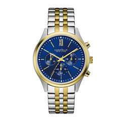 Caravelle New York® Mens Chronograph Two-Tone Stainless Steel Watch 45A131
