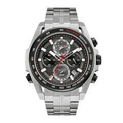 Bulova® UHF Precisionist Mens Stainless Steel Chronograph Watch 98B270