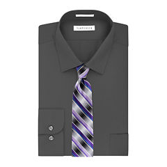 Van Heusen® No-Iron Lux Sateen Dress Shirt and Tie Combo