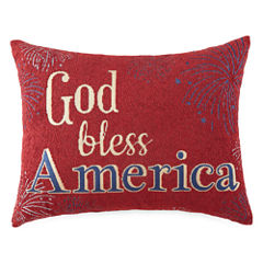 JCPenney Home™ God Bless America Oblong Decorative Pillow