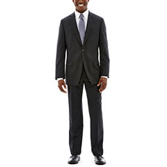 Claiborne Stretch Black Solid Suit-Classic Fit