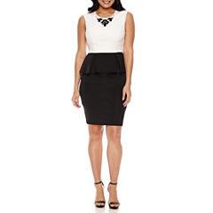 Bisou Bisou Sleeveless Peplum Dress