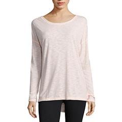 Xersion Long Sleeve Scoop Neck T-Shirt-Womens Talls
