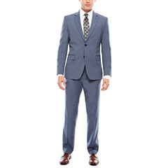 JF J. Ferrar Stretch Micro Texture Light Blue Suit Separates- Slim Fit