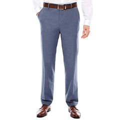 JF J. Ferrar Stretch Blue MicroTexture Pant-Slim Fit