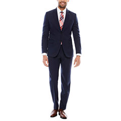 JF J. Ferrar Stretch Navy Birdseye Suit Separates- Slim Fit