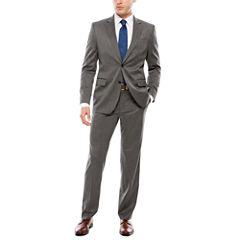 JF J. Ferrar Dark Gray Birdseye Suit Separates- Slim Fit