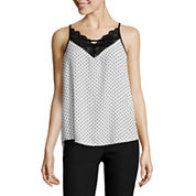 by&by Crepe Tank Top-Juniors
