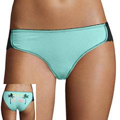 Flirtitude® Lace-Trim Dolphin Bikini Panties