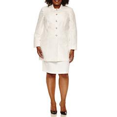 Isabella Long Sleeve Skirt Set-Plus