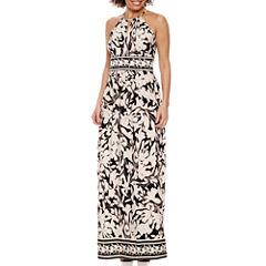 London Times Sleeveless Maxi Dress-Petites