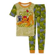 Disney Boys Long Sleeve Lion Guard Pant Pajama Set-Big Kid