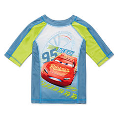 Disney Boys Cars Solid Rash Guard-Big Kid