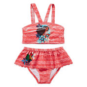 Disney Girls Disney Princess Solid Tankini Set - Toddler