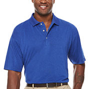 PGA Tour Short Sleeve Solid Jersey Polo Shirt Big and Tall