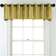 JCPenney Home Velvet Grommet Blackout Lined Tailored Valance