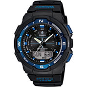 Casio® Mens Twin Sensor Black & Blue Watch SGW500H-2BV
