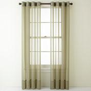 Liz Claiborne® Lisette Grommet-Top Sheer Curtain Panel