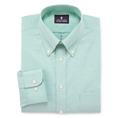 Stafford® Travel Wrinkle-Free Oxford Linen Look Dress Shirt  - Big & Tall
