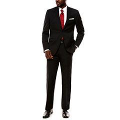 Collection by Michael Strahan Black Herringbone Suit Separates- Slim Fit