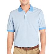 Arrow® Short-Sleeve Mini-Striped Piqué Polo