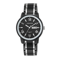 Armitron® Mens Black Bracelet Watch