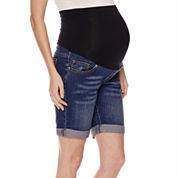 Maternity Overbelly Bermuda Shorts